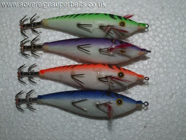 Squid Jigs Hard Fishing Lure Saltwater  Bass Jig Hook Tools Accessory UK