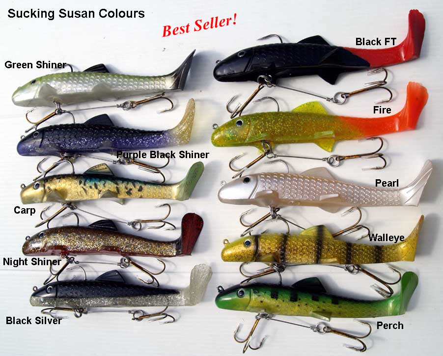 Sucking Susan fishing lure colours